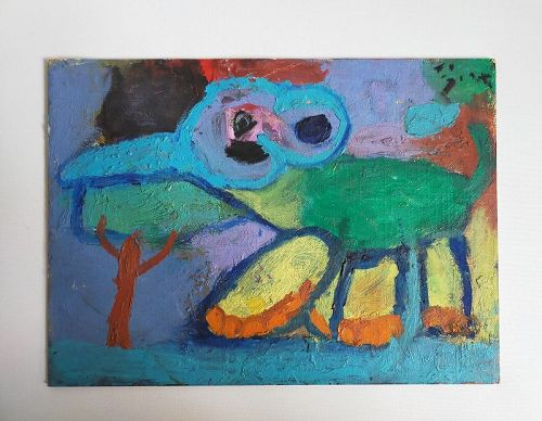 OIL PAINTING BY CHILD