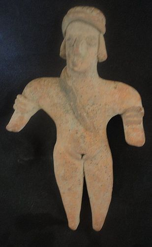 "A DEFTLY MODELED ""GINGERBREAD FIGURE FROM ANCIENT WEST MEXICO"