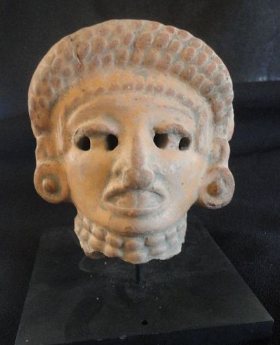 PRE-COLUMBIAN POTTERY HEAD OF A YOUTH FROM PRE-CLASSIC WESTERN MEXIC
