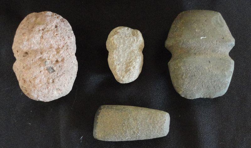 FOUR PREHISTORIC MIMBRES STONE TOOLS