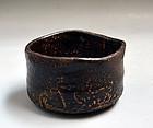 Early Edo Seto Guro Chawan Tea Bowl