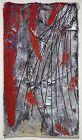 "Abstract Japanese Painting ""Mudai"" by Hori Kosai, 1991"