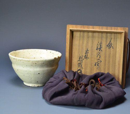 Haunting Edo period Hagi Chawan Tea Bowl w/ Gold Repair
