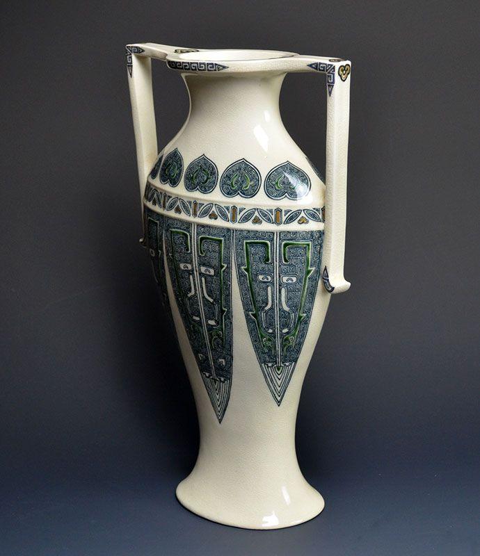 Rare Meiji p. Japanese Art-Nouveau Vase, Ito Tozan I