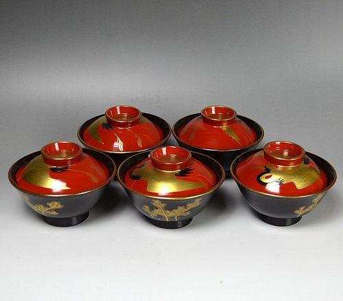 Breathtaking! Antique Japanese Toyoraku Bowl Set