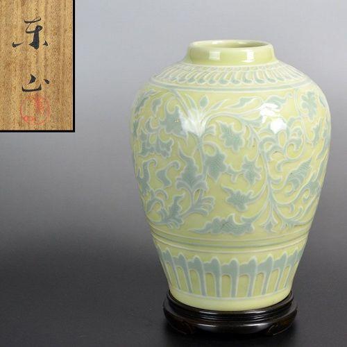 Antique Japanese Porcelain Vase by Miyanaga Tozan