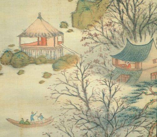 Yano Tetsuzan Taisho p. Autumn Silk Landscape Scroll
