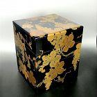Spectacular Japanese Jubako Lacquer Box, Grapes