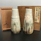 Kiyomizu Rokubei III Chasen Antique Tokkuri Sake Flasks