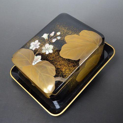Antique Japanese Lacquer Box by Yoshida Rissai