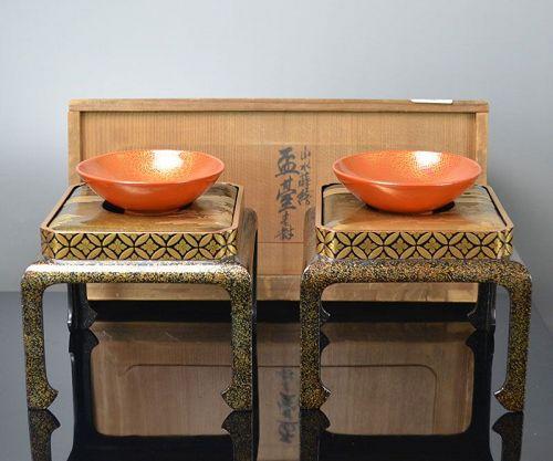 Antique Japanese Lacquer Sake Service Set