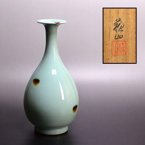 Tobi Celadon Vase by Suwa Sozan II