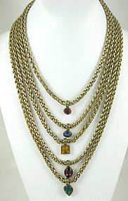 Dramatic Yves Saint Laurent Bib Necklace