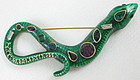 Kenneth Jay Lane Enamel Rhinestone Snake Pin