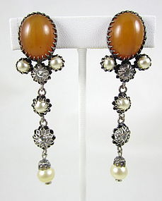 Early Christian Dior France Dangling Earrings