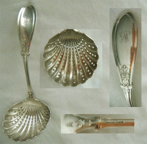 """Whiting """"Italian"""" Sterling Silver Sugar Sifter"""