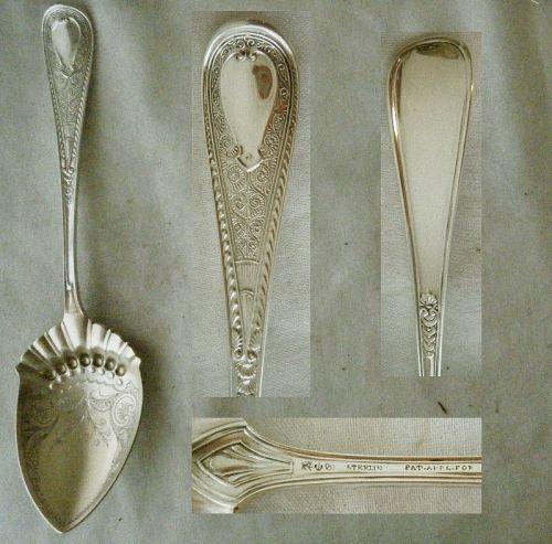 "Gorham ""Hindostanee"" Sterling Silver Berry Sterling Spoon"