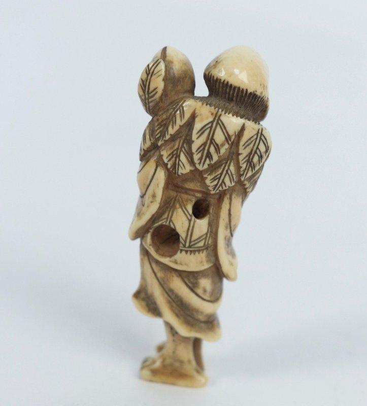 Japanese Ivory Netsuke Sennin
