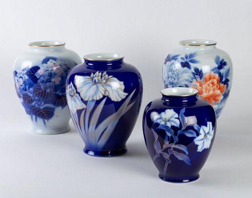 Japanese Fukugawa Kilns Vases