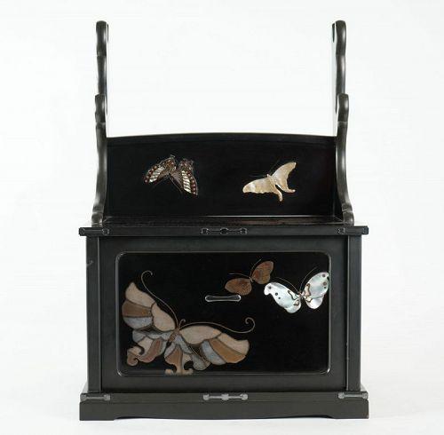 Lacquered and Inlaid Butterflies Katana Kake