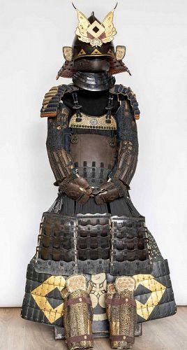 Japanese Armour RokuDo Gussoku Signed Munetaka Myochin 18th century