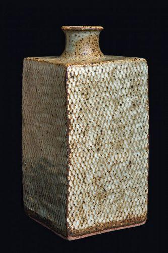 Tatsuzo Shimaoka (1919-2007) Zogan Technique Vase Mashiko Pottery LNT