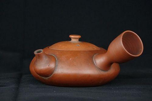 1920s Japanese Tokoname Teapot 260ml with Calligraphy Shudei Kyusu