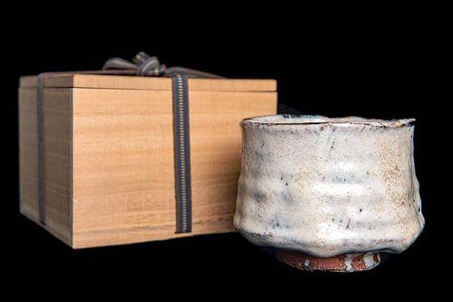 Vintage Japanese Chawan of Hagi Pottery