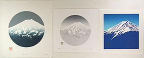 Japan  Haku Maki 1990  Fuji-san three  Images