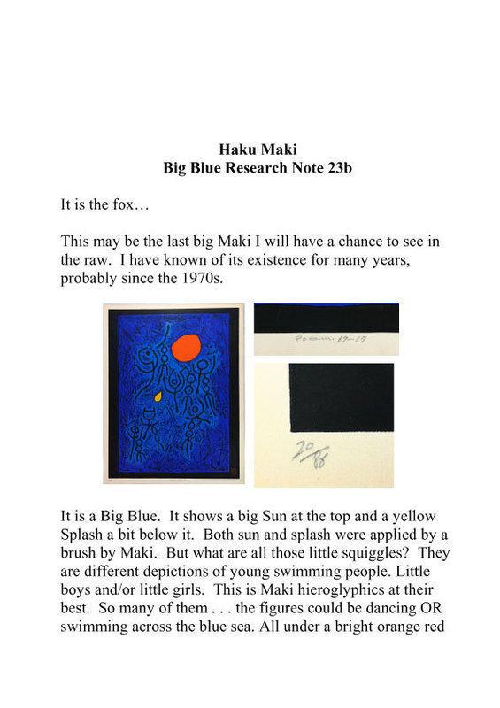 Japan Haku Maki  Note 23b   Big Blue