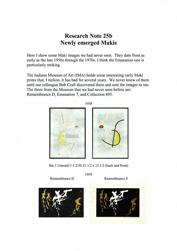 Japan Haku Maki Research Note 25-B