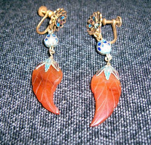 China agate ear rings