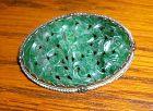 china jade brooch old cct