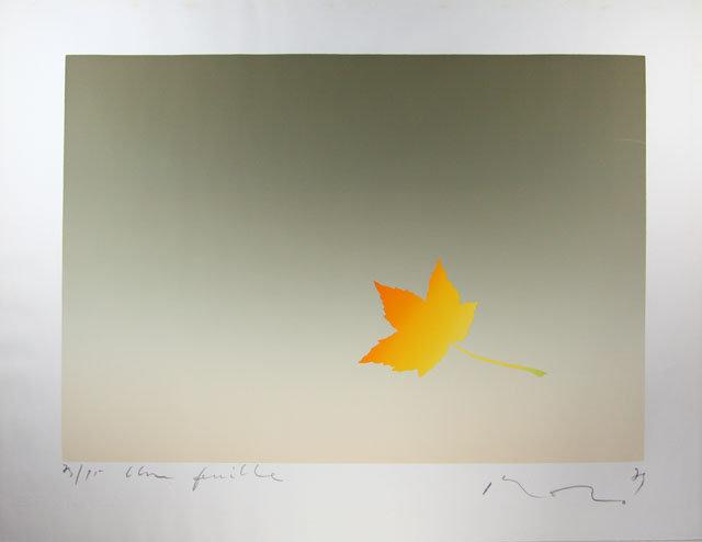 "Japan Contemporary serigraph Inoue Kozo """"October"""