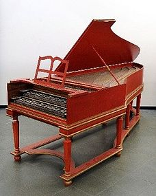 an harpsichord,replica from H.A. Hasse