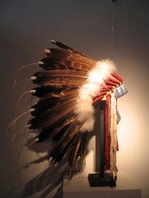 a magnificent  sioux  lakota headress,