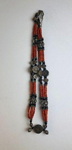 kazakh coral necklace ,