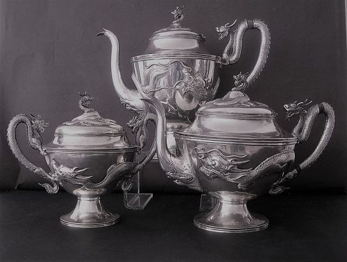 Chinese silver tea and coffee set