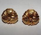Hammerman Brothers 18K Gold Earrings or Cufflinks