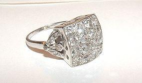 Dazzling 1920s Deco Platinum Diamond Ring