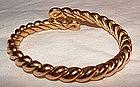 14K Yellow Gold Deco Flexible Snake Bracelet