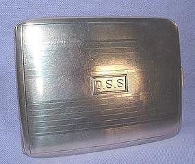 Sterling Silver Cigarette Case circa 1930