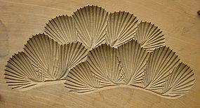 Kashigata, Wooden Sweet Mold, Pine (Matsu) Motif