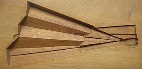 Kashigata, Wooden Sweet Mold, Sensu (Fan) Motif