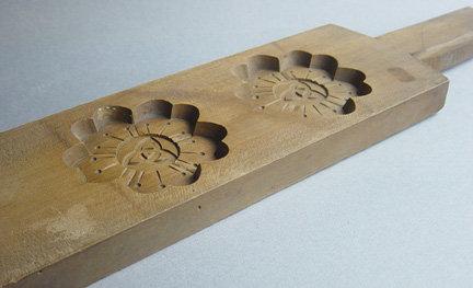 Kashigata, Wooden Sweet Mold, Cherry Blossom Motif