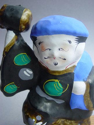 Miharu Hariko Papier-mache Doll, Daikoku, God of Wealth
