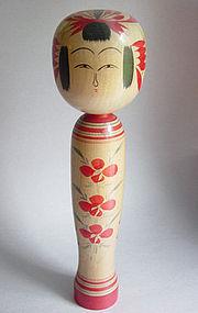 Kokeshi, Yamagata Tendou-kei, by Kamio Keisaburo