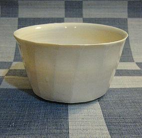Faceted Porcelain Bowl by Hanako Nakazato