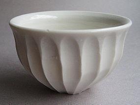 Guinomi, Sake Cup. Porcelain; Hanako Nakazato.