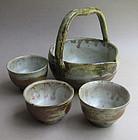 Cold Sake Serving Set, Hisage Shuki. Sachiko Furuya